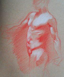torso-red-chalk