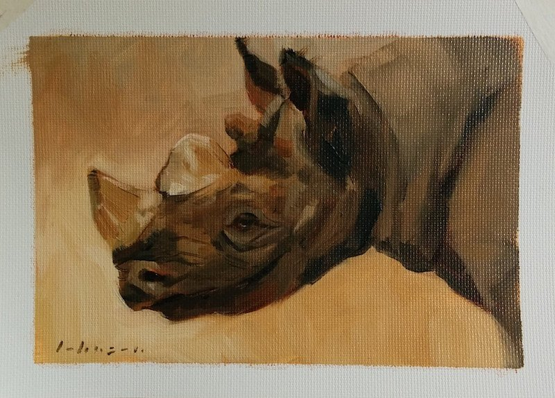 Rhino painting by Dan Johnson