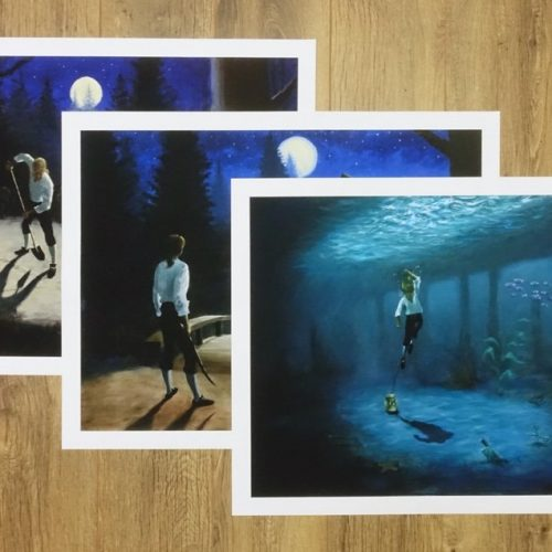 The Three Trials. Set of 3 fine art giclee prints by Dan Johnson