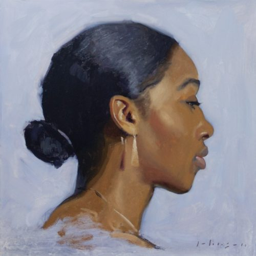 Profile Study oil painting by Dan Johnson