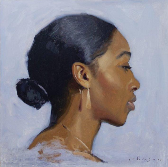 Profile Study oil painting by Dan Johnson